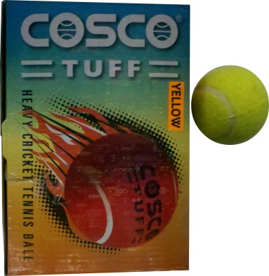Cosco Tuff Cricket Tennis Ball(Pack of 6, Yellow)  available at flipkart for Rs.390