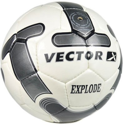 Vector X Explode Football -   Size: 5(Pack of 1, White, Silver)