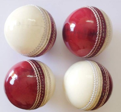 Navex Red   white Cricket Leather Ball HS Pcking 2 pcs Cricket Leather Ball