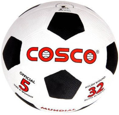 Cosco Mundial Football   Size: 5 Pack of 1, White, Black Cosco Footballs