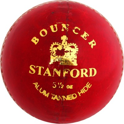 SF Bouncer Leather Cricket Ball -   Size: Standard(Pack of 12, Red)  available at flipkart for Rs.4360
