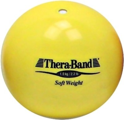 Thera-Band Soft Weight Medicine Ball(Weight:  1 Kg, Yellow)