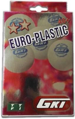 GKI Euro Plastic Table Tennis Ball(Pack of 6, White)