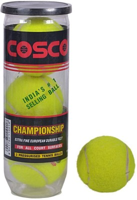 Cosco CHAMPIONSHIP Cricket Tennis Ball(Pack of 3, Green)  available at flipkart for Rs.255