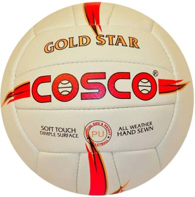 Cosco GOLDSTAR Volleyball - Size: 4(Pack of 1, Multicolor)