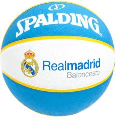 SPALDING Real Madrid Basketball   Size: 7 Pack of 1, White, Blue SPALDING Basketballs