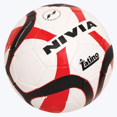 Nivia New Latino FB 294 Football   Size: 5 Pack of 1, Red, Black Nivia Footballs