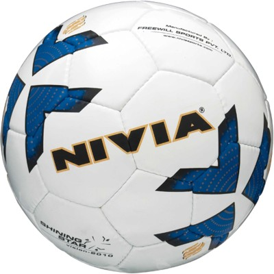 Nivia Shining Star Football - Size: 5(Blue, White)  available at flipkart for Rs.830