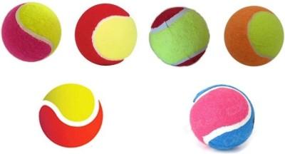 Ally AllyGater Cricket Tennis Ball Pack of 6, Multicolor Ally Cricket Balls