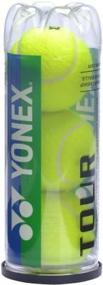YONEX Tour Pack of 3 Tennis Ball Pack of 3, Yellow YONEX Tennis Balls