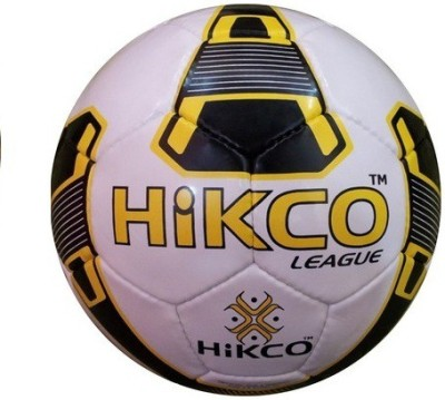 Hikco LEAGUE Football   Size: 5 Pack of 1, Yellow