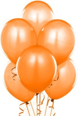 Ziggle Solid Oramet Balloon(Orange, Pack of 25)
