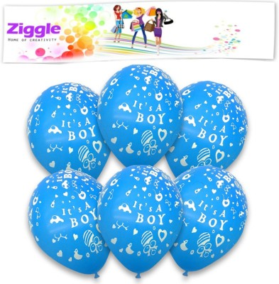 Party Printed BAL1453 Balloon(Blue, Pack of 30)