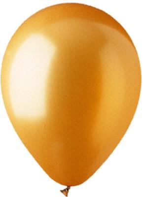 Bobo Funco Solid Metallic Latex Balloon(Gold, Pack of 25)