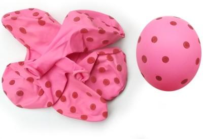 Polka Dot Printed Balloon Dot Balloon(Pink, Pack of 30)