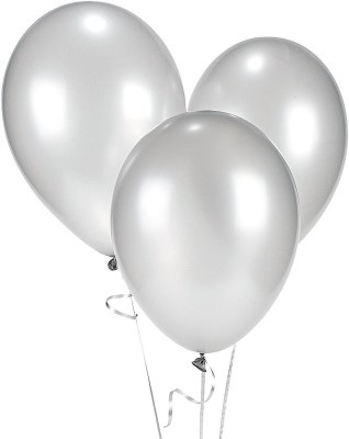 Ziggle Solid WH88 Balloon(White, Pack of 25)