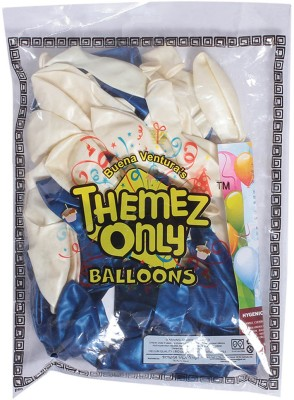 Themez Only Solid 8906049291022 Balloon(Blue, White, Pack of 1)
