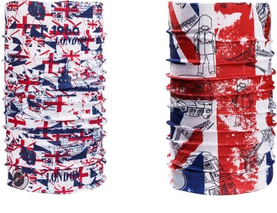 Noise Combo Of Noise 13 in 1 British Flag And London 1960 Headwrap Men's Printed Bandana(Pack of 2)