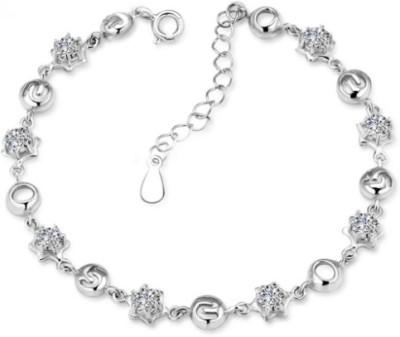 Silver Shoppee Sterling Silver Swarovski Crystal Bracelet Silver Shoppee Bracelets