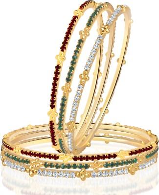 VK Jewels Alloy Yellow Gold Bangle Set(Pack of 6) at flipkart