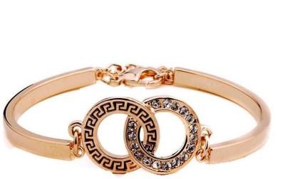 Fashionforsure Alloy Cubic Zirconia Yellow Gold Bracelet at flipkart