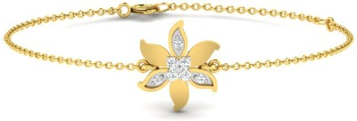 His & Her Love Forever Yellow Gold 9kt Diamond Bracelet(Yellow Gold Plated) at flipkart