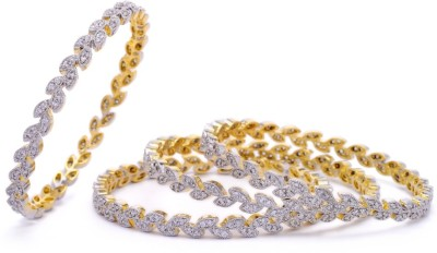 Hyderabad Jewels Alloy, Silver Bangle Set(Pack of 4) at flipkart