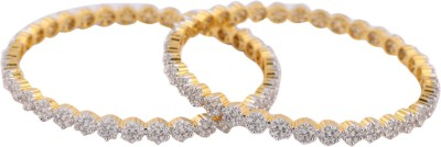 M Gold Alloy Yellow Gold Bangle Set(Pack of 2) at flipkart