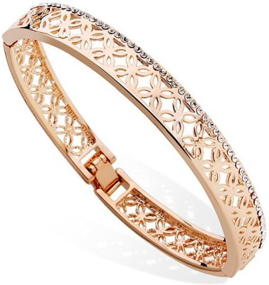 Fashionforsure Alloy Cubic Zirconia 18K Yellow Gold Bangle at flipkart
