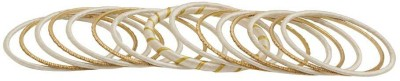 Voylla Cotton Dori Yellow Gold Bangle Set(Pack of 15) at flipkart