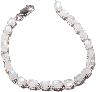 Be You Sterling Silver Moonstone Rhodium Tennis Bracelet at flipkart
