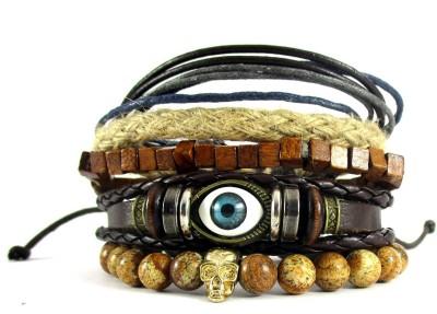 Streetsoul Leather Bracelet Set(Pack of 5) at flipkart