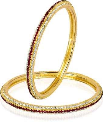 VK Jewels Alloy Gold-plated Bangle Set(Pack of 2) at flipkart