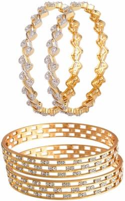 Jewels Galaxy Alloy Bangle Set(Pack of 4) at flipkart