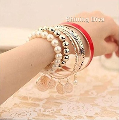 Shining Diva Alloy Bangle Set(Pack of 6) at flipkart