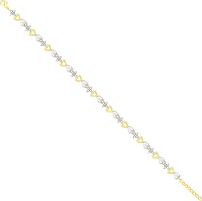VK Jewels Alloy Cubic Zirconia Gold-plated Bracelet