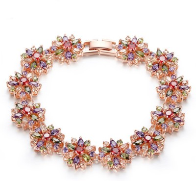 Yellow Chimes Alloy Zircon Rose Gold Bracelet at flipkart