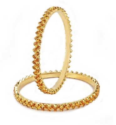 VK Jewels Alloy Yellow Gold Bangle Set(Pack of 2) at flipkart