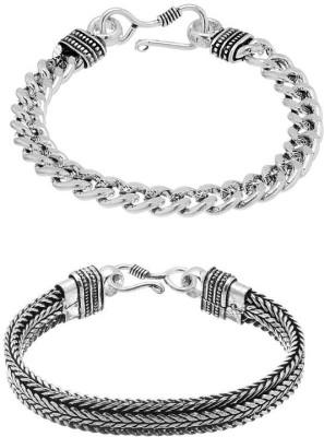 D&D Alloy Silver Bracelet(Pack of 2)