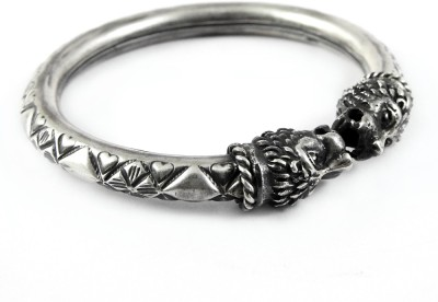 Miska Silver Sterling Silver Black Silver Bangle at flipkart