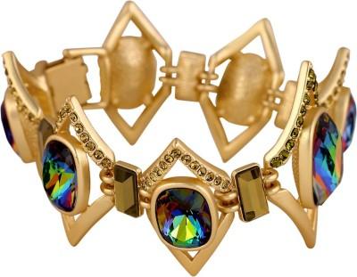 Shaze Brass Cubic Zirconia 18K Yellow Gold Bracelet at flipkart