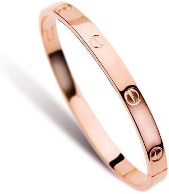 Fashionforsure Titanium 18K Rose Gold Bracelet at flipkart