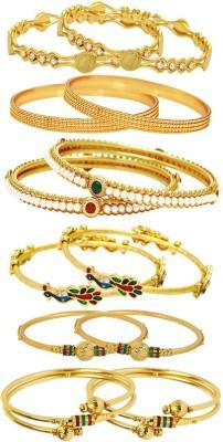 Jewels Galaxy Alloy Bangle Set(Pack of 12) at flipkart