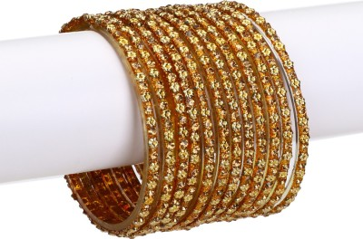 Somil Glass Crystal Bangle Set(Pack of 12) at flipkart