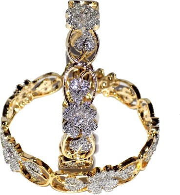 Jewels Kafe Copper Rhodium Bangle Set(Pack of 2) at flipkart