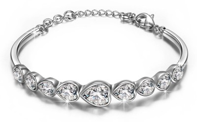 Yellow Chimes Alloy Swarovski Crystal Bracelet at flipkart