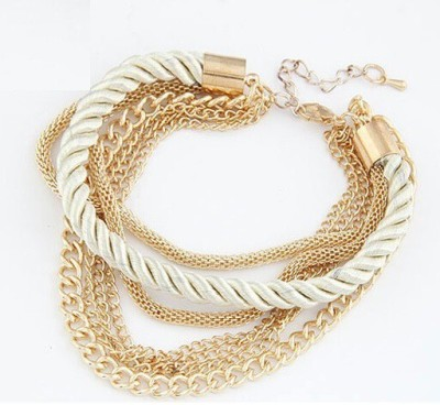 WearYourFashion Alloy Gold plated Charm Bracelet WearYourFashion Bangles Bracelets   Armlets
