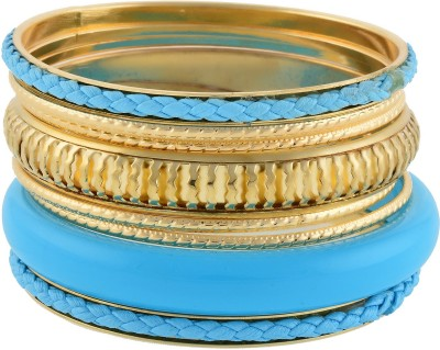 Aaishwarya Alloy Crystal Bangle Set(Pack of 8) at flipkart