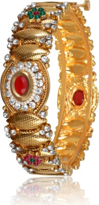 A To Z Creations Copper Ruby, Emerald Yellow Gold Bangle at flipkart