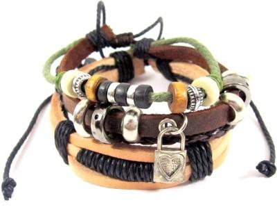 Streetsoul Leather Bracelet Set(Pack of 2) at flipkart